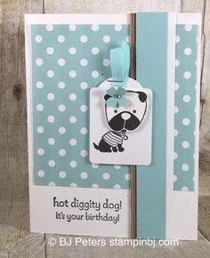 Hot Diggity Dog, Stampin' Up!, BJ Peters, #stampinbj, #bjpeters, #puppycard
