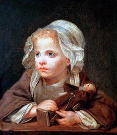 Jean-Baptiste Greuze - The Favorite Doll
