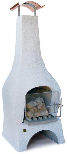 Nexø Pihagrilli Europa NX9P, valkoinen