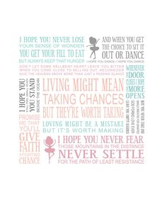 8x10 I Hope You Dance