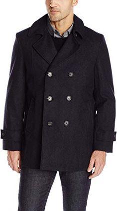 Tommy Hilfiger Mens Finn Button Through Overcoat