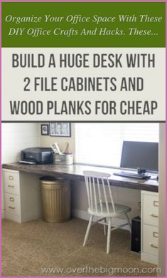 Fed up with seeing your grey desk, cabinet or perhaps chair inside your office cubicle? While some of today's office spaces now sport ergonomic design... File Cabinet Desk, Filing Cabinets, Office Cabinets, Diy Cabinets, Diy Desk, Diy Computer Desk, Corner Desk Diy, Spare Room, My New Room