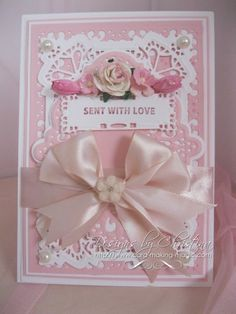 Birthday Card in Pink by CardMakingMagic on Etsy