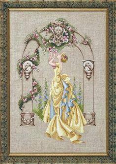schema punto croce Rose of sharon | Hobby lavori femminili - ricamo - uncinetto - maglia