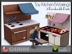 Christmas gifts for kids - toy kitchen with working oven Sims 4 Cc Furniture, Toddler Furniture, Kids Toy Kitchen, Muebles Sims 4 Cc, Sims 4 Bedroom, Sims 4 Game Mods, Sims 4 Collections, Play Sims, 2 Kind