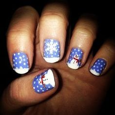 christmas nails - http://yournailart.com/christmas-nails-12/ - #nails #nail_art #nail_design #nail_polish