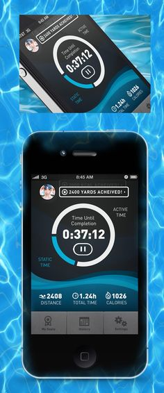"""Swimr App by Brad Matsushita via Dribbble *** """" Screen from a swim training application I've been working on. Because swimmers like data too.   Full shot attached, comments and critique welcome. """""""
