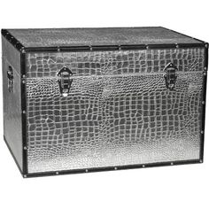 Found it at Wayfair - Faux Leather Crocodile Trunk