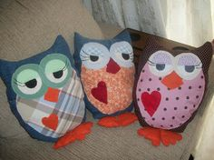 Almofadas decorativas de corujas