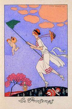 George Barbier - The Four Seasons I,  Le Printemps .... Spring 1919