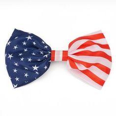American Flag Bow Hair Clip