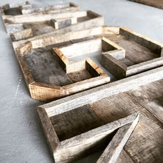 Pallet letters perfect for a nursery