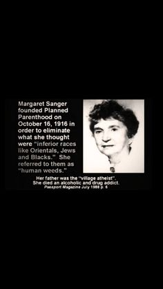 The Evil Margaret Sanger