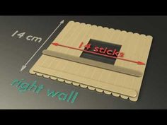 Popsicle house instructions, Part 6 - The Right Wall - YouTube