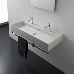 Inspirational Wall Mount Sinks with towel Bar