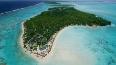 After a lavish wedding, the newlyweds are off to a private island in French Polynesia, once owned by a famous actor.
