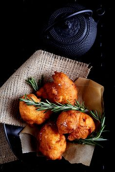 sweet potato and rosemary beignets