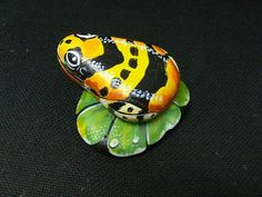 Painting Frogs On Rocks | Rockpainting - Frog 0015
