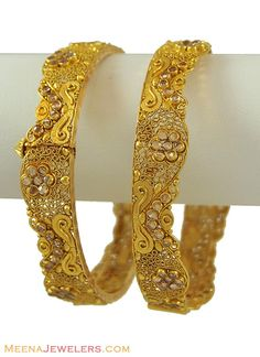 indian antique gold bangles - Google Search