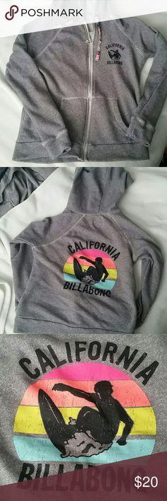 Surf hoodie Distressed hoodie (cracks part of the style) great condition. Billabong Tops Sweatshirts & Hoodies