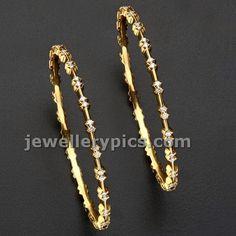 6 slim diamond bangle designs - Latest Jewellery Designs