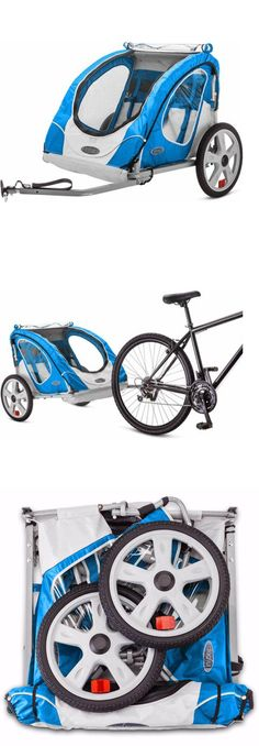 Trailers 85040: Bike Trailer Berry Instep 2 Seat Child Bicycle Carrier Stroller Cart Folding BUY IT NOW ONLY: $87.69