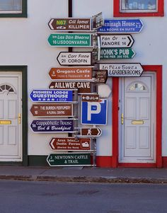 Road Signs at Ballyvaughan