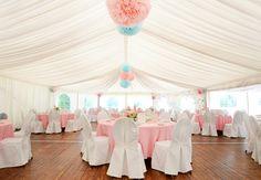 Unsere #rosa #Tischwäsche bringt in jedes Zelt #Farbe - Reber's Pflug