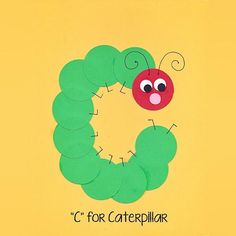 Alphabet Art Template – Upper C (Caterpillar) - Tiere Preschool Letter Crafts, Alphabet Letter Crafts, Abc Crafts, Preschool Art Projects, Daycare Crafts, Alphabet Book, Spanish Alphabet, Letter Tracing, Alphabet Letter Templates