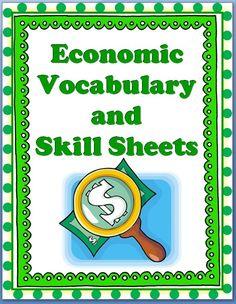 Economic vocabulary activity worksheet answers