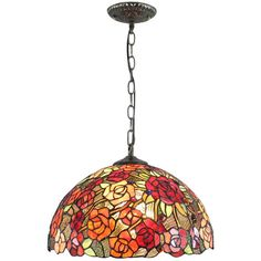 12 inch vintage dragonfly stained glass tiffany ceiling lamp pendant stained glass tiffany chain hanging pendant light 297 liked on polyvore featuring home aloadofball Gallery