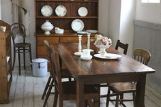 Shabby Chic, Dining Table, Rustic, French, Interior, Furniture, Home Decor, Dining Rooms, Essen