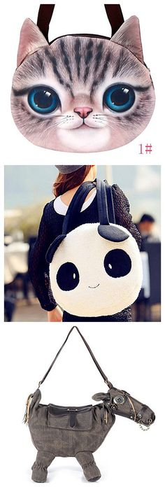 Cute bags in cute animal's shape. Love the panda one. Check them out!