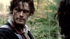 Sam Heughan as the badass and handsome Highland warrior, Jamie Fraser!