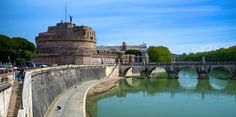 View of the Castel St. Angelo alongside the Tiber river. One of the iconic landmarks of Rome. Photo by Michael Gaylord.