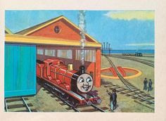 Paper Train, Red Engine, Postcard Printing, Thomas The Tank, Thomas And Friends, Wild Birds, Book Illustration, All Print, Vintage Prints