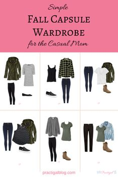Simple Fall Capsule Wardrobe for the Casual Mom This fall capsule wardrobe is both simple (in color and style) and casual, perfect for the stay-at-home or work-at-home mom. Mom Outfits, Fall Outfits, Casual Outfits, Vacation Outfits, Mom Wardrobe, Fall Wardrobe, Wardrobe Ideas, Simple Wardrobe, Minimalist Wardrobe