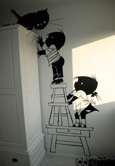Jip & Janneke bedroom Illustration (Fiep Westendorp Foundation)