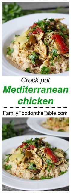 Crock pot Mediterranean chicken - very easy with very big flavor! Great for a busy week!