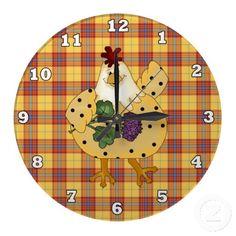 Cartoon Chicken kitchen wall clock