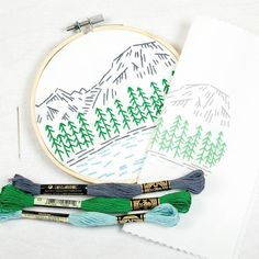 'The mountains are calling and I must go!' I just love that poem by Edward Morris. It was written in tribute to John Muir a man my husband greatly admires. Our country has such majestic landscapes that I hope you get to visit and enjoy this summer. Afterward you can commemorate your adventures in thread like this Rockies kit.
