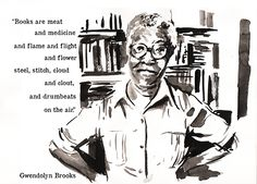 Chicago Literary Hall of Fame Greeting Cards - Gwendolyn Brooks
