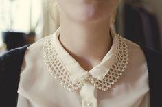 double collar, shirt, blouse, bead collar, style, collar necklace, fashion
