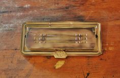 Antique Cast Bronze Mail Slot Art Deco American Device MFG Co.
