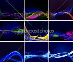 Abstract background vector set — Stock Vector #8977065