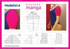 Manga drapeada é muito chique. É uma ótima idéia para mulheres antenadas que gostam de seguir as tendências da estação. Esse modelo de man...