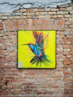 Hummingbird painting graffiti art