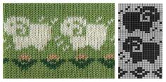 Жаккардовые узоры спицами для детских свитеров - схемы