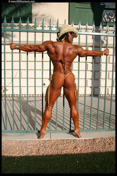 IFBB Pro female bodybuilder Betty Viana - Adkins posing her lovely muscles for HDPhysiques!