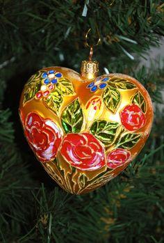 christopher radko ornaments | Christopher Radko Heart Ornament by NewPhind on Etsy
